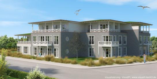 Architekturvisualisierung Neubau in List auf Sylt