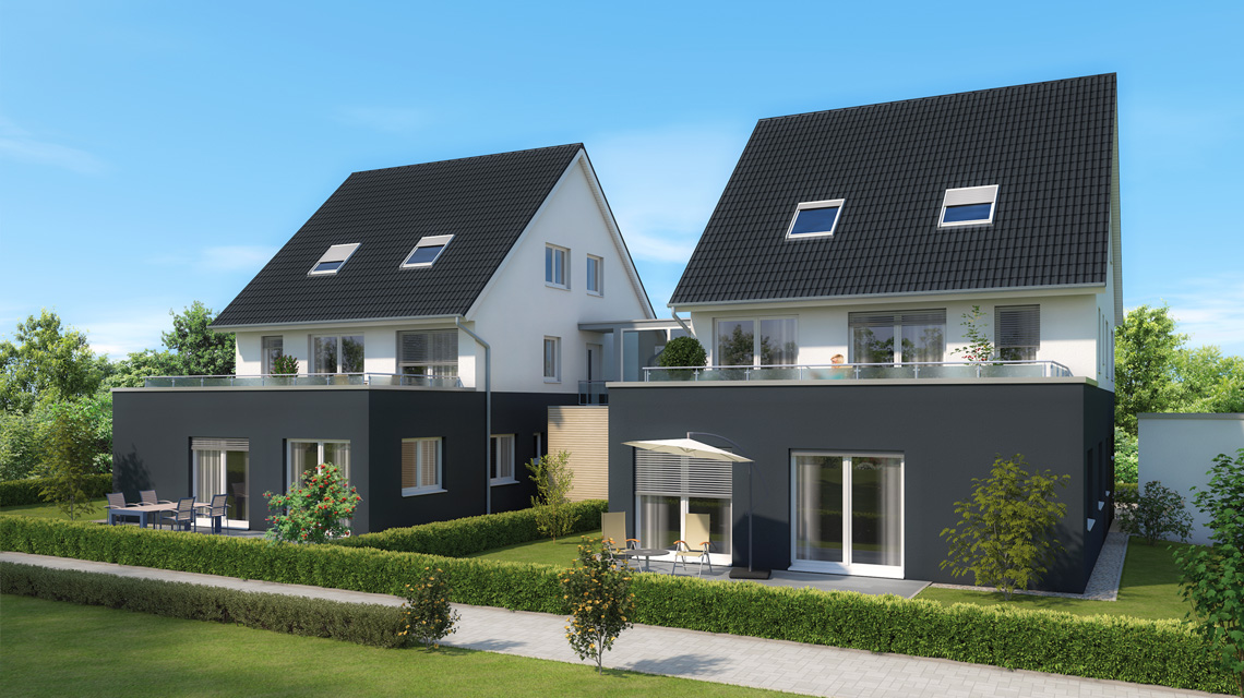Architektur-Visualisierung 4-Familienhaus in Feucht