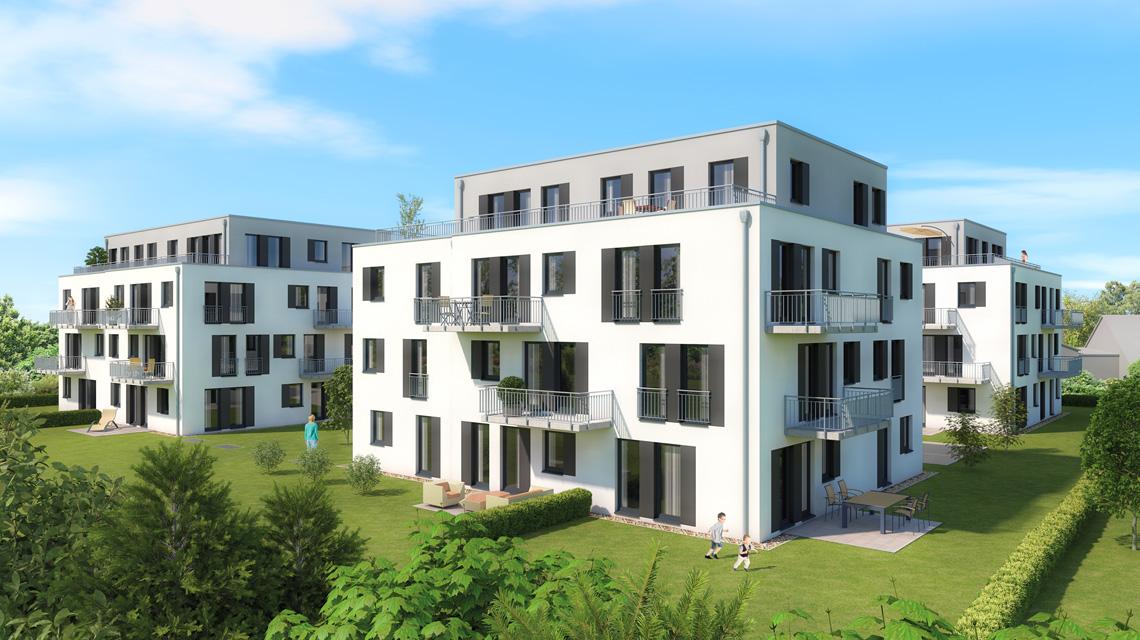 Architekturvisualisierung Mehrfamilienhaus-Projekt in Weiden
