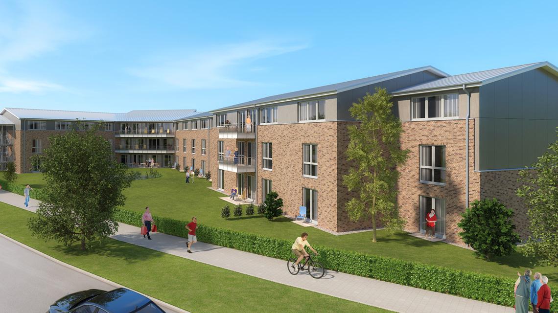 Architekturvisualisierung Pflegeeinrichtungen Wohnpark Blumlage