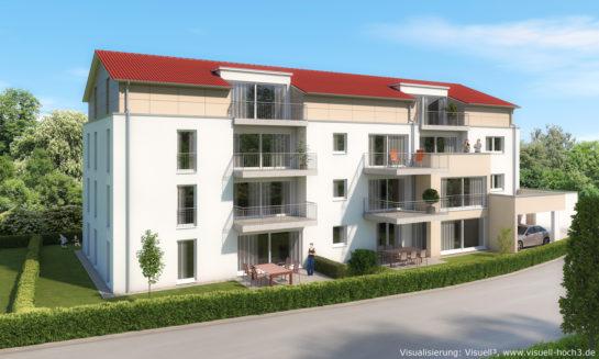 Architekturvisualisierung Mehrfamilienhaus in Altenriet