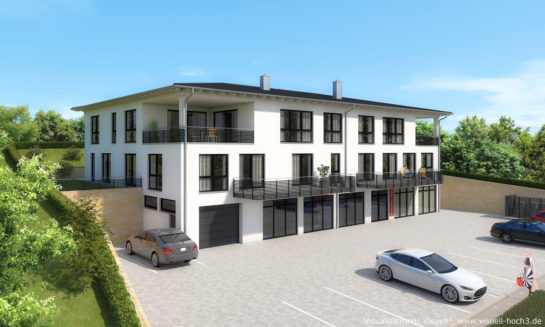 Architekturvisualisierung - Mehrfamilienhaus in Litzendorf