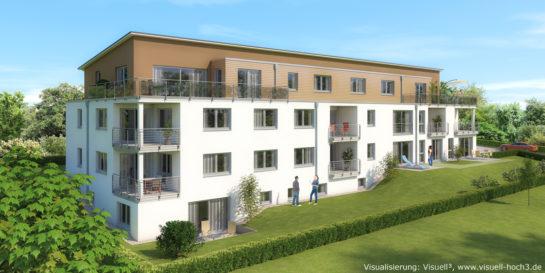 Nagold-Iselshausen: Architekturvisualisierung Mehrfamilienhaus mit 10 Wohneinheiten