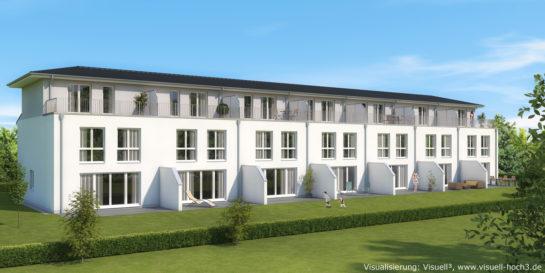 Architekturvisualisierung Reihenhaus-Anlage bei Rendsburg