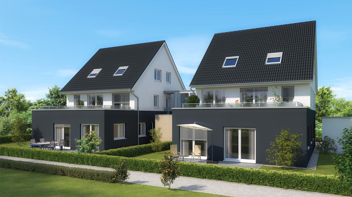 Architektur-Visualisierung 4-Familienhaus in Feucht