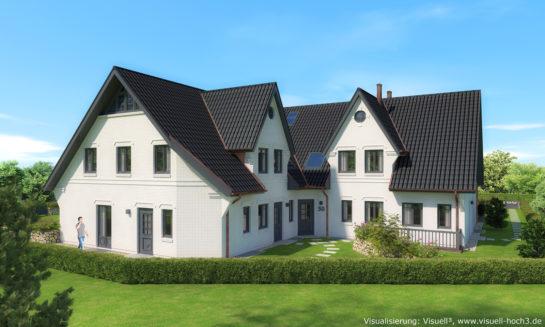 Architekturvisualisierung Friesenhaus mit 10 Wohneinheiten