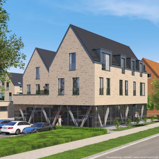 3D-Visualisierung Geschäftshaus in Flensburg