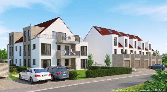 Architekturvisualisierung Bauvorhaben in Filderstadt-Plattenhardt