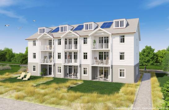Architekturvisualisierung Wohnhaus in List auf Sylt
