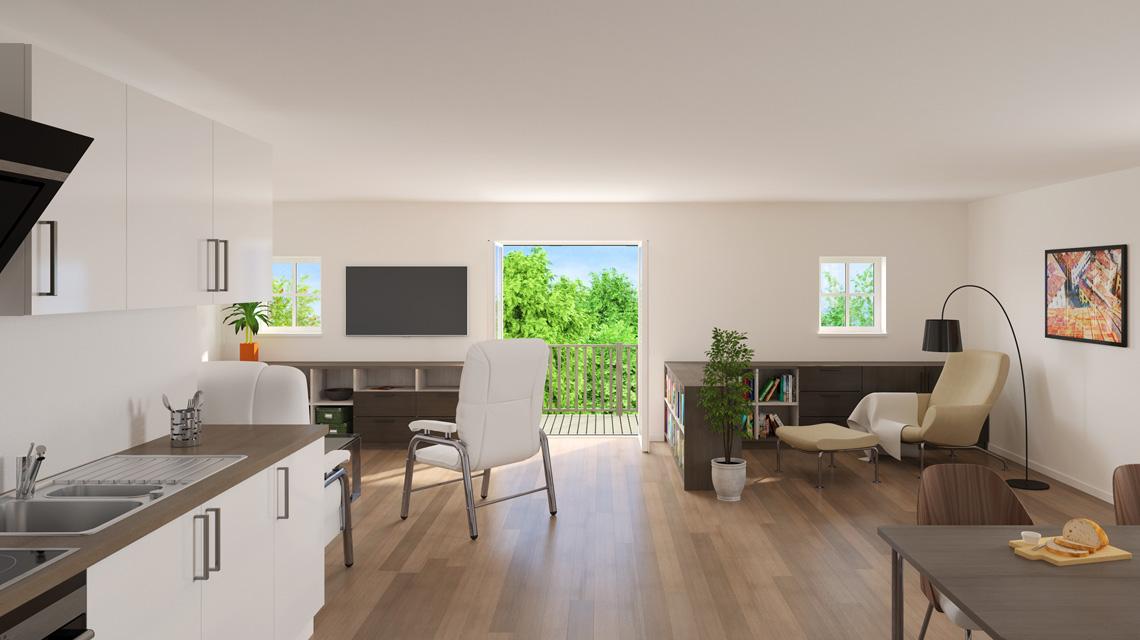 Innenraumvisualisierung Wohnung in Eutin