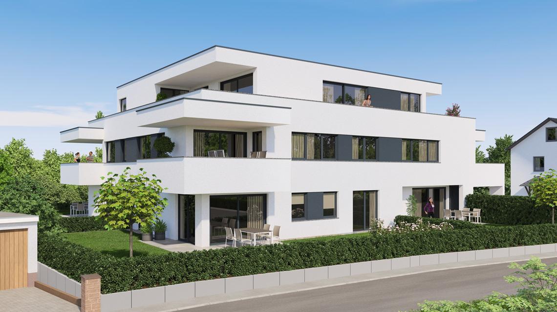 Architekturvisualisierung Mehrfamilienhaus in Bönnigheim