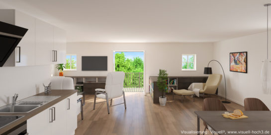 Innenraumvisualisierung einer Wohnung in Eutin
