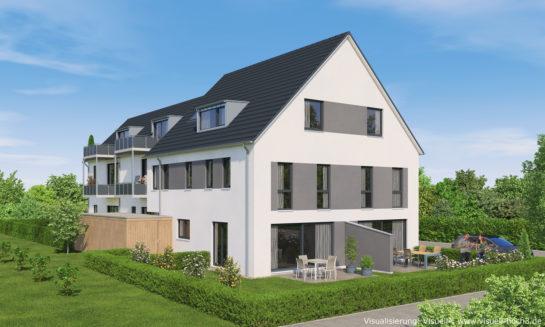 3D-Visualisierung Doppelhaus in Reutlingen